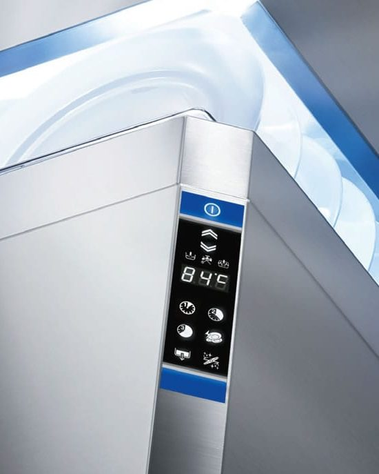 hood type dishwasher ergonomic