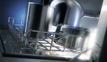 Til opvask af gryder og pander