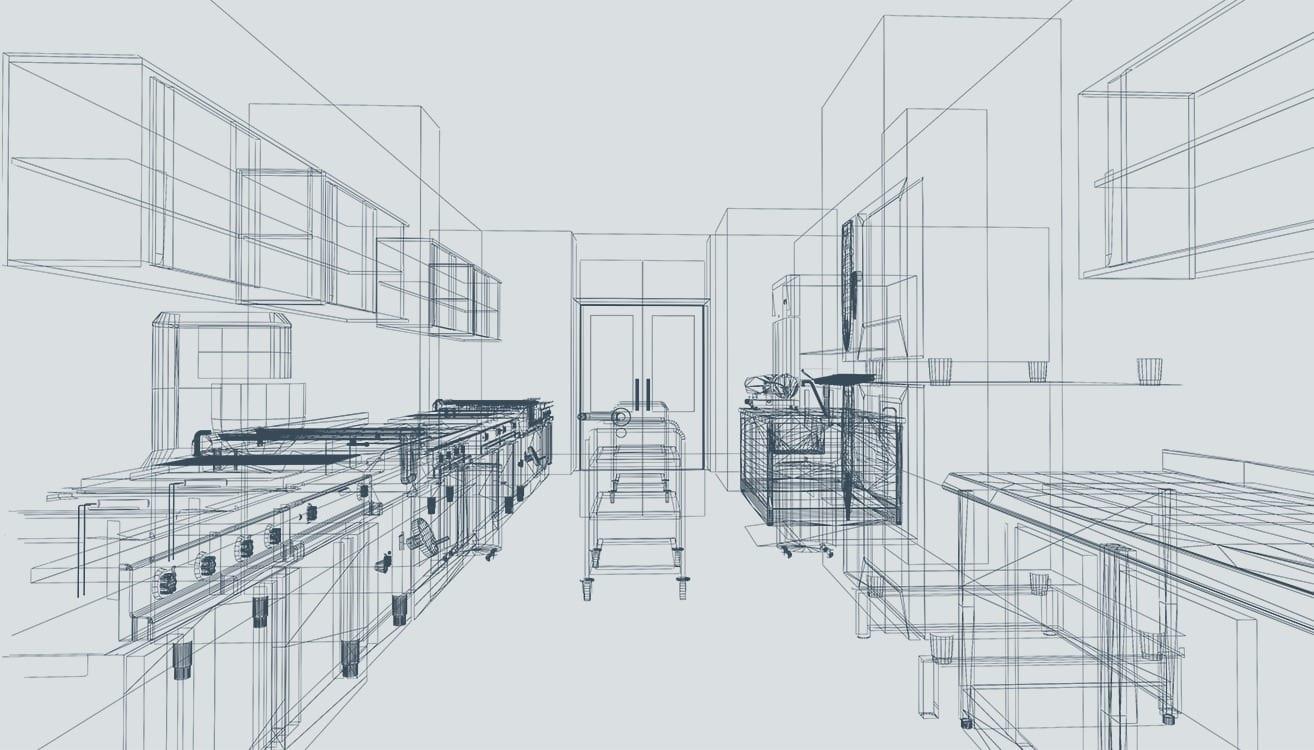 indretning af storkøkkener