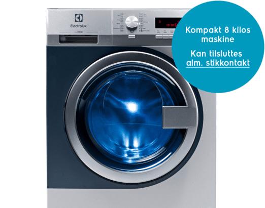myPRO Vaskemaskine Kompakt 8 kilos maskine. Kan tilsluttes almindelig stikkontakt
