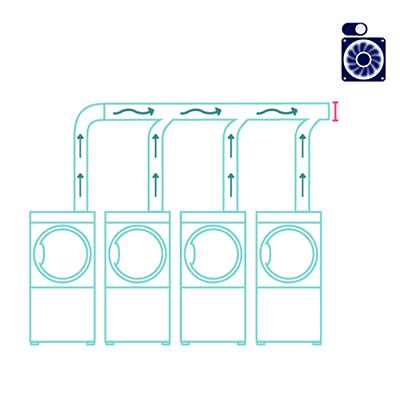 Ventilador adaptable para secadoras Línea 6000