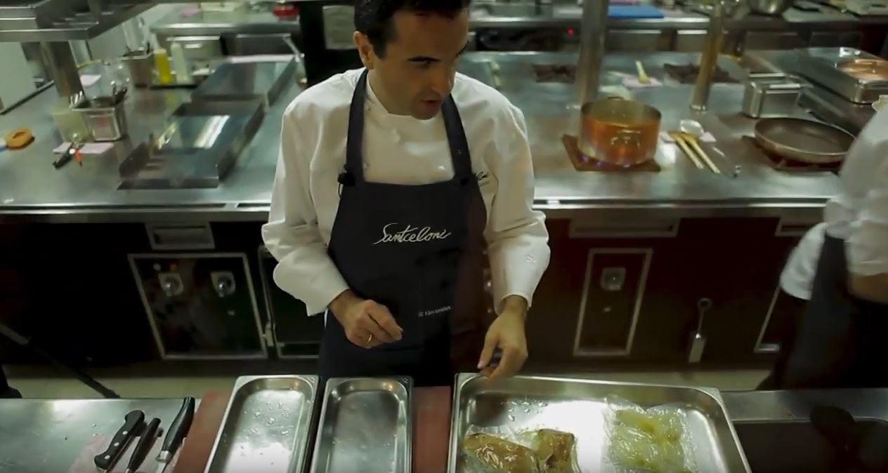 Oscar Velasco & Molteni by Electrolux Professional en el restaurante Santceloni, 2 estrellas Michelin