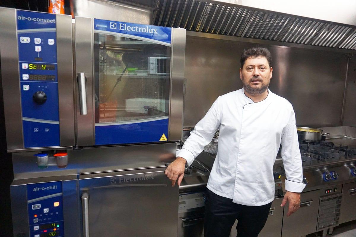 El chef Luis Felipe Pinto, la Txitxarrería