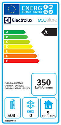 Refrigeration energy label