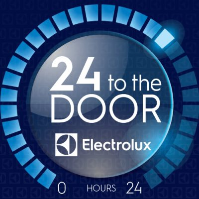 24 to the door Electrolux Express Logo
