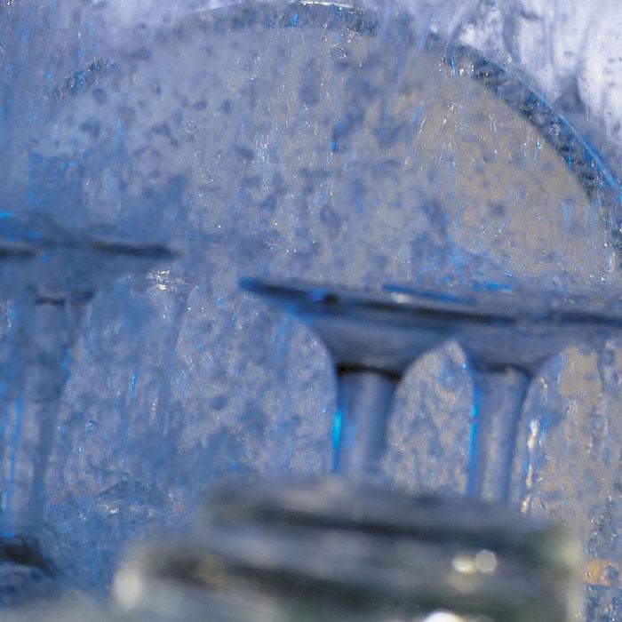 Inside a glasswasher