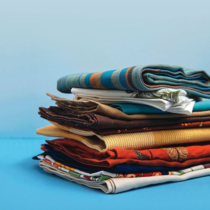 Pile of stacked linen