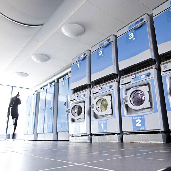 Multi-housing laundry