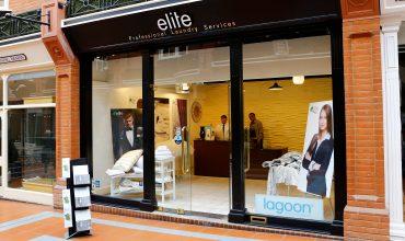 elite professional laundry shop front