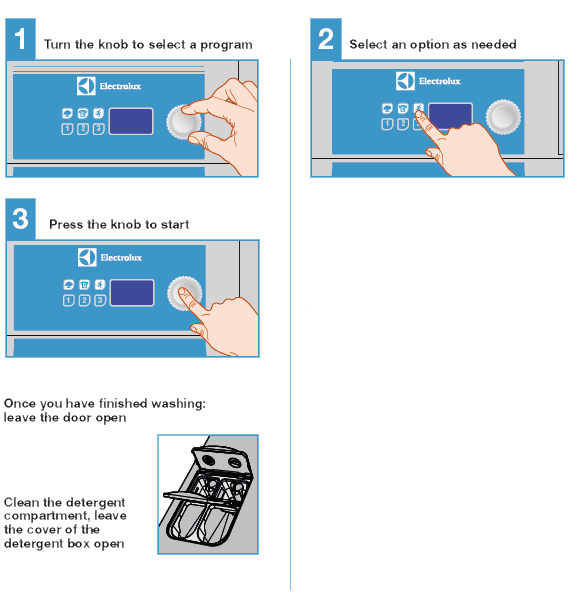 washer control instructions