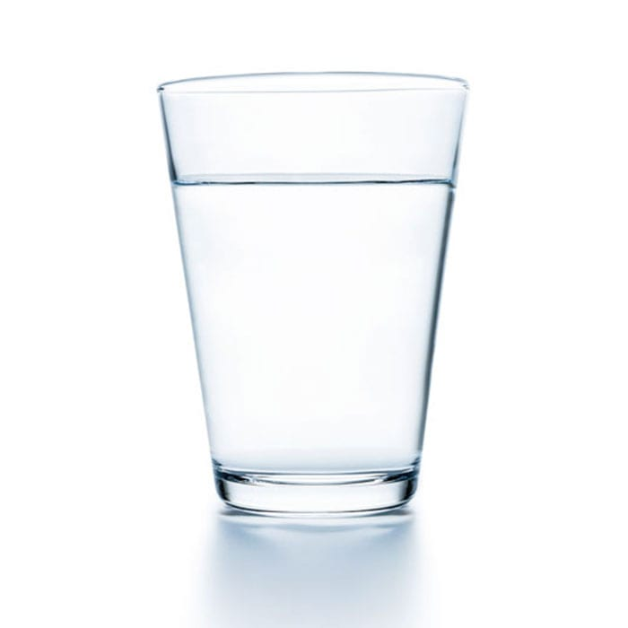 Rack Type glass of water