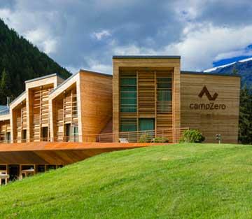 Esterno del Resort CampZero