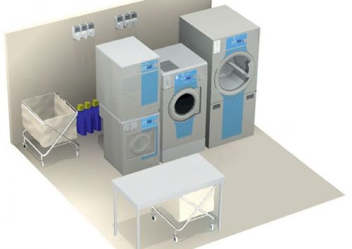 laundry solution for cargo ship 25 staff members