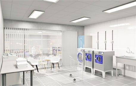 3D-layout tvättstuga