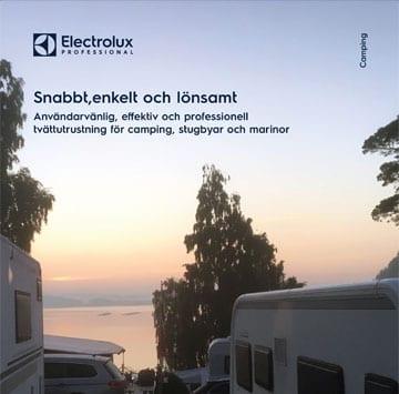 Campingbroschyr tvättutrustning från Electrolux Professional