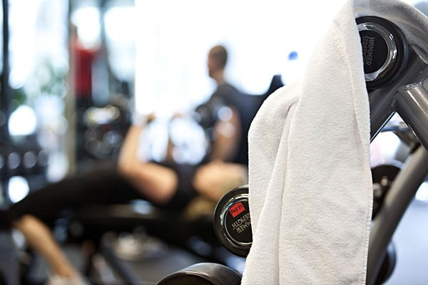 Gemensamt gym i anslutning till tvättstudion