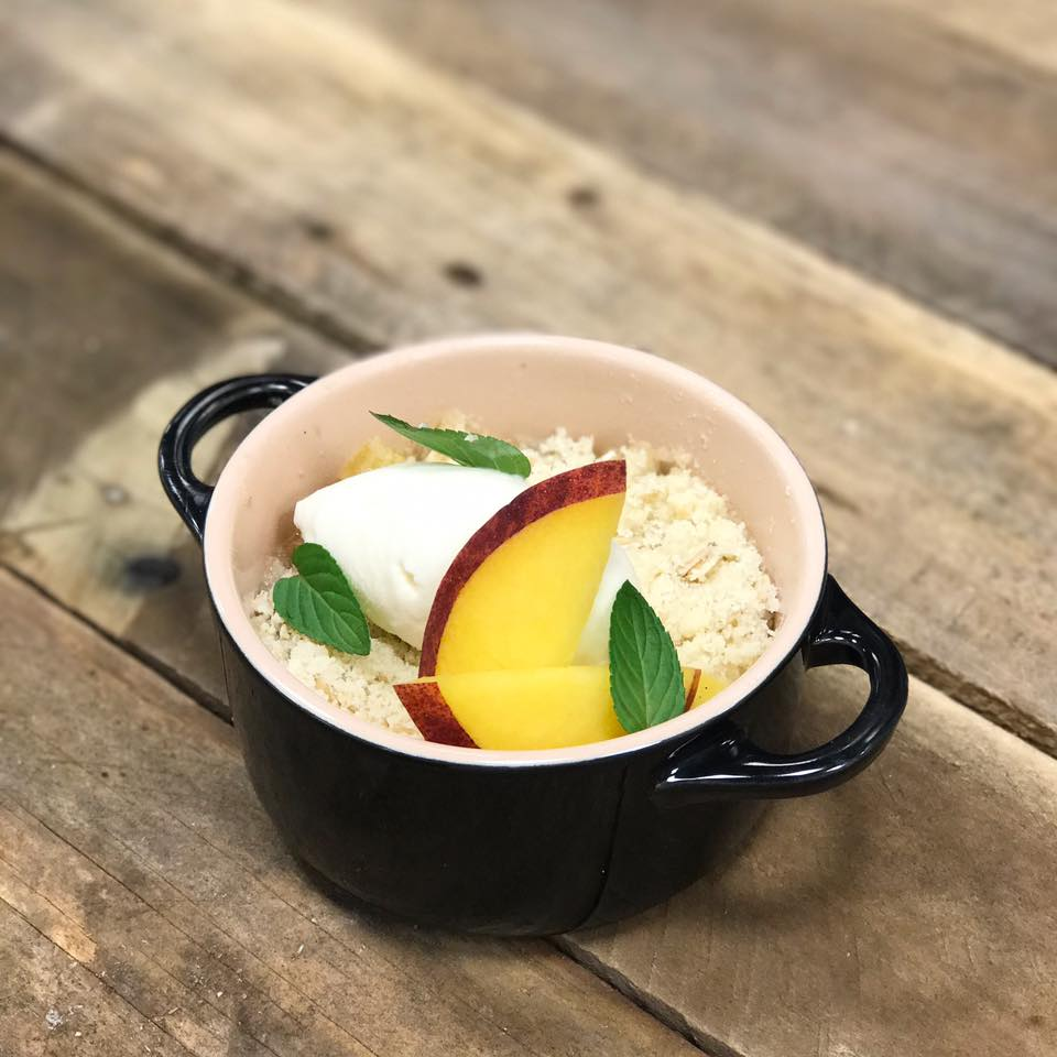 Peach Cobbler Recipe Square