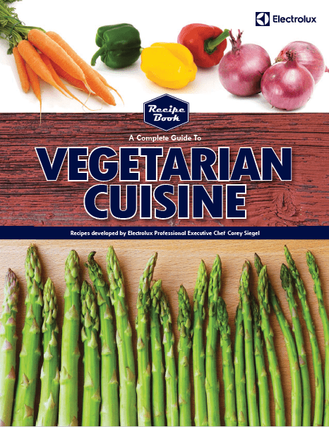 Cover for the Electrolux Professional Vegetarian Cuisine Cookbook