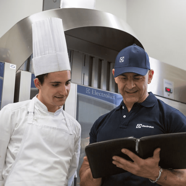 Customer Care - Chef being helped by service