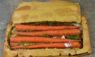 Carrots Roasted in Curry Salt Crust