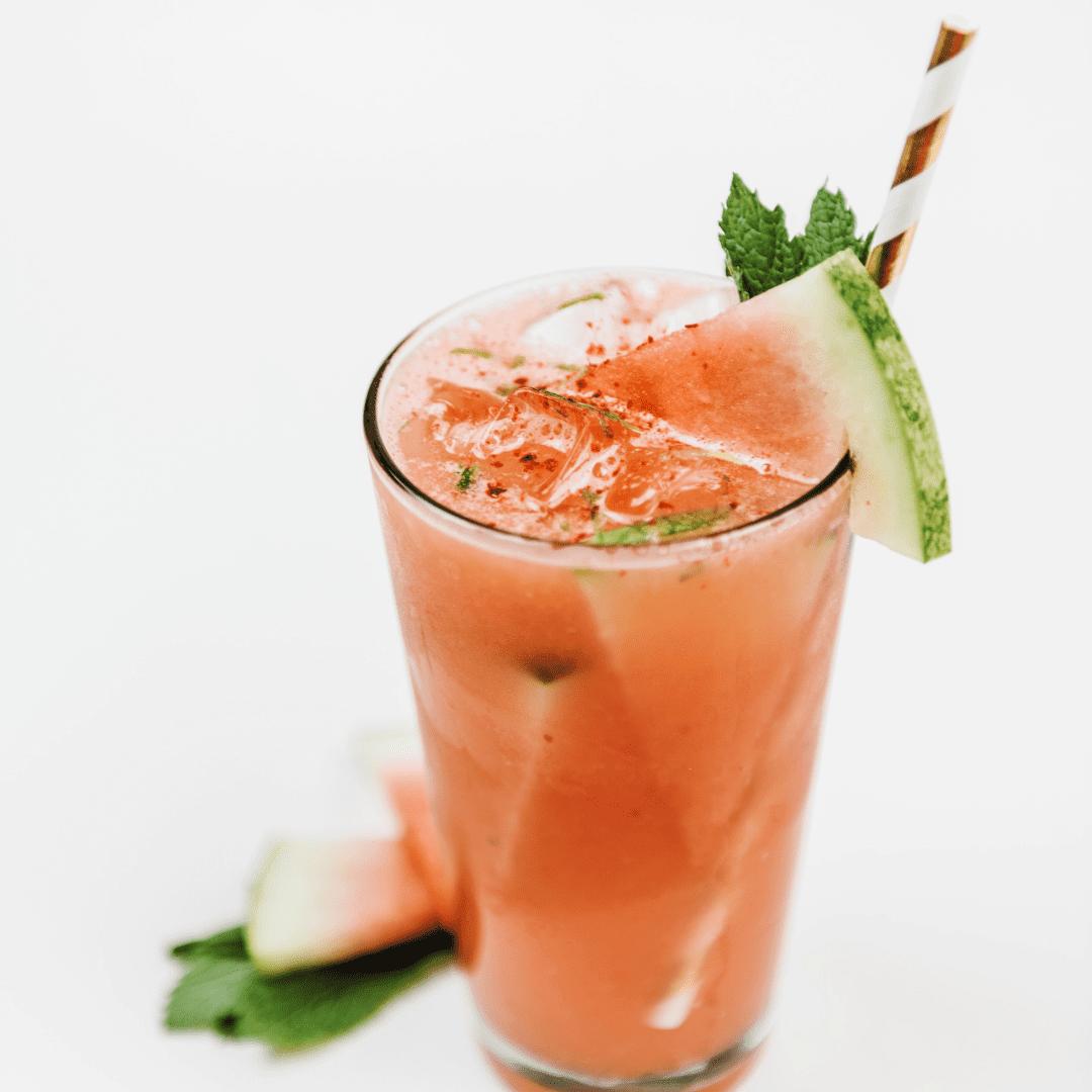 Watermelon Aqua Fresca made using Bermixer Pro