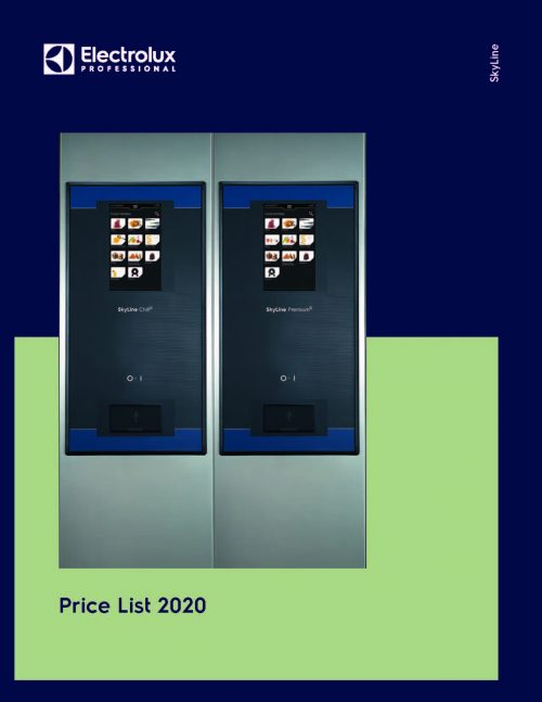 Cover for 2020 Electrolux Professional Price List