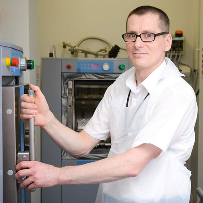 Adrian Clarke, Domestic Services Manager, Milton Keynes Hospital