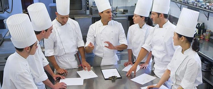 Restaurant kitchen staff structure