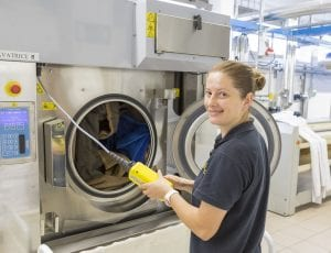 commercial laundry operator
