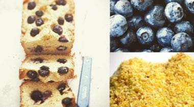 Blueberry and polenta cakes