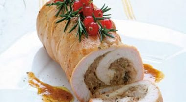 Turkey supreme roll with chestnut mousse