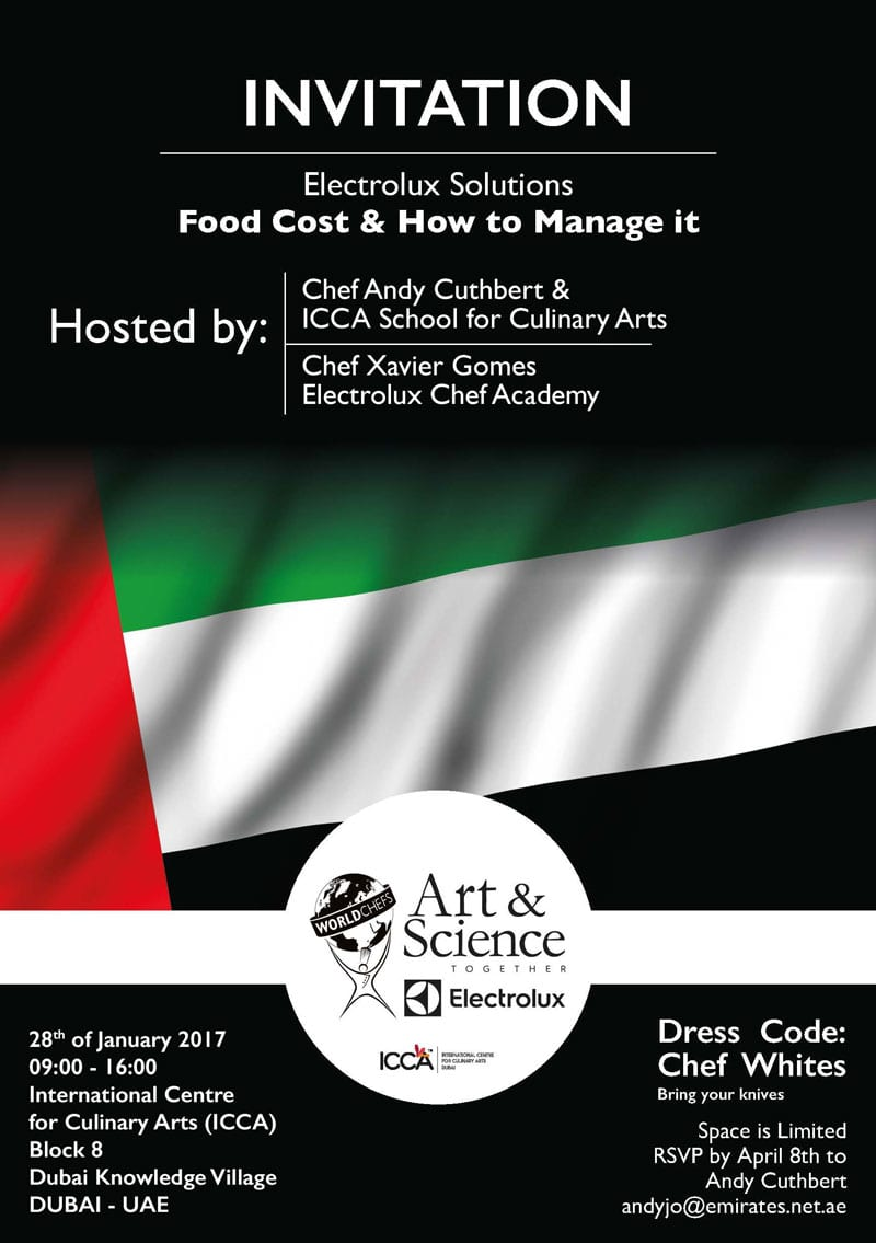 Workshop in Cook & Chill - Dubai, 20 january