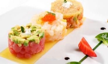 Raw or marinated fish Italian style