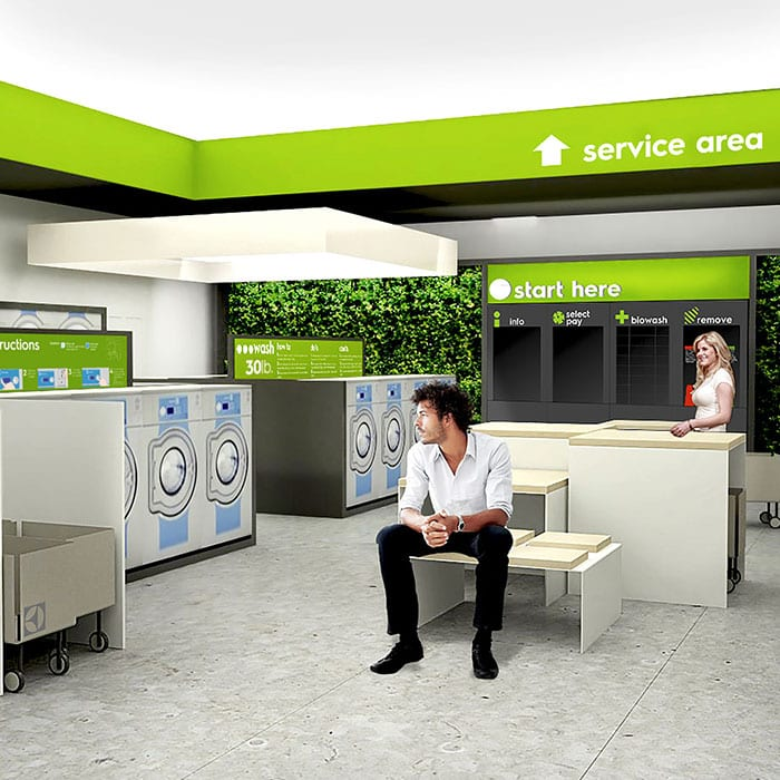 myLaundry, self-service laundry concept store by Electrolux.