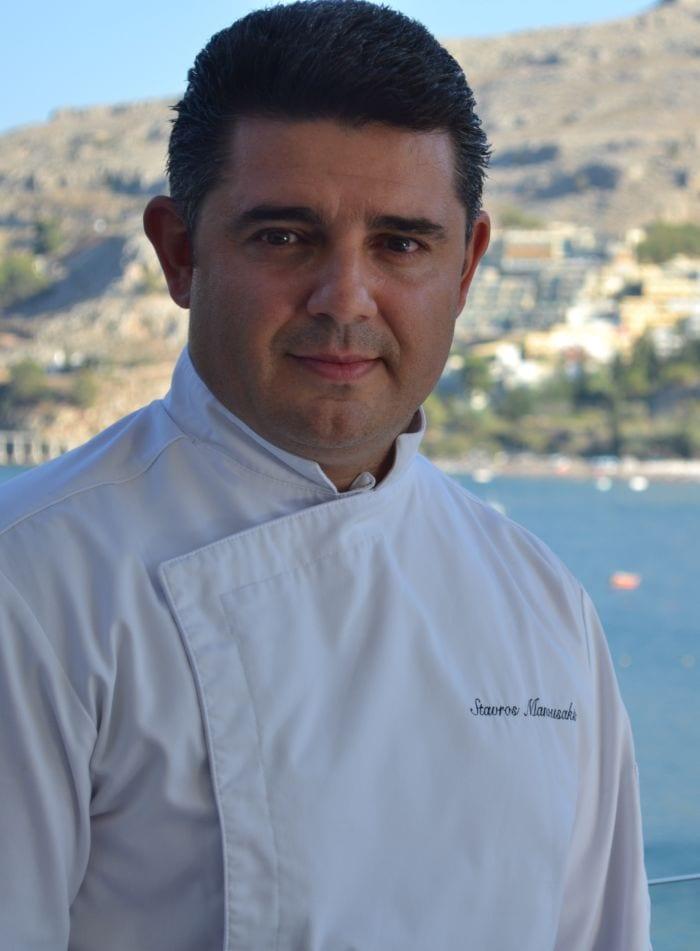 Chef Stavros Manousakis at Lindos Royal Hotel