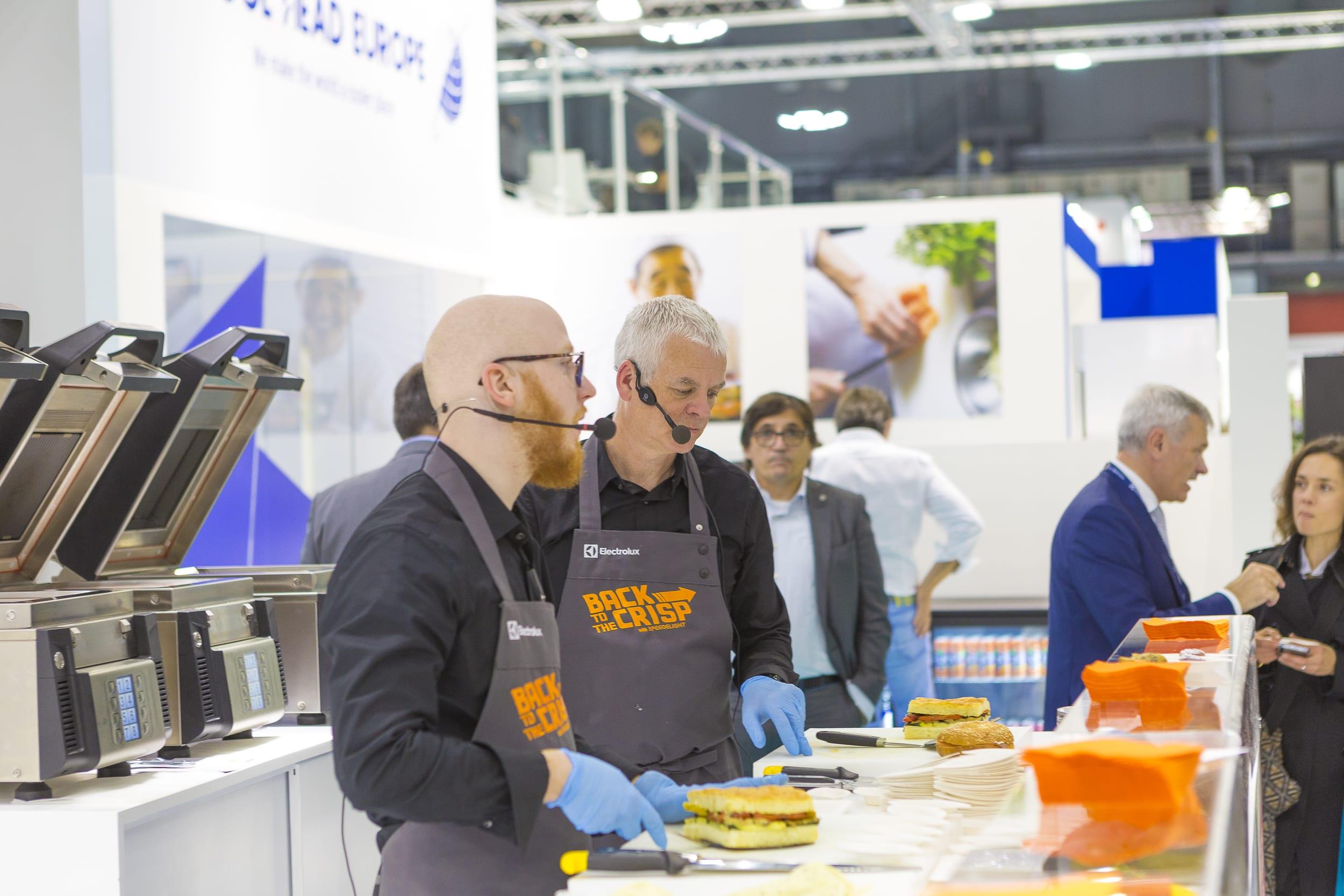 Elextrolux Professional chefs demonstrate SpeeDelight