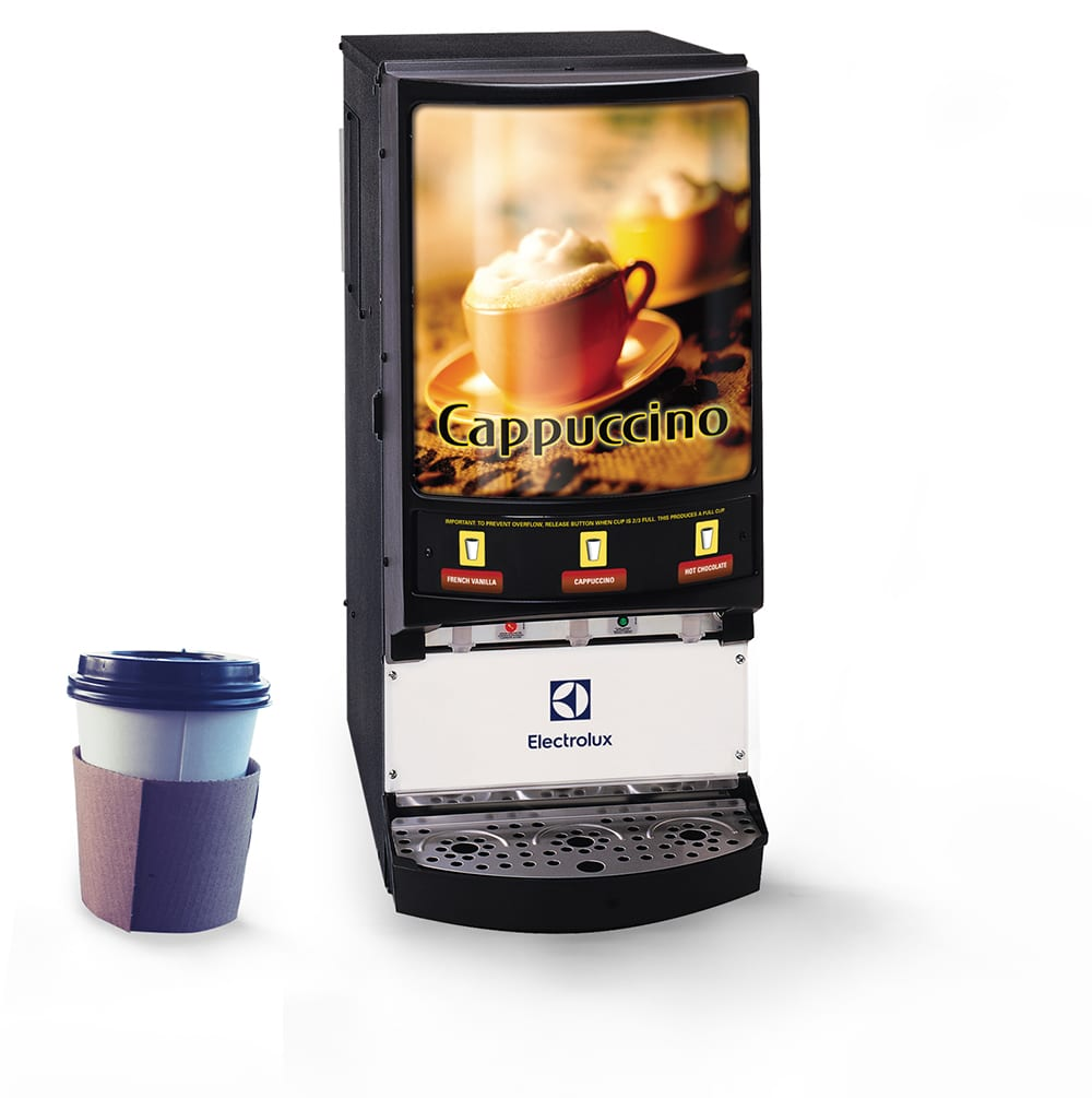 hot beverage dispenser with coffee cup