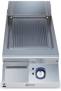 ribbed brushed chrome fry top electrolux professional